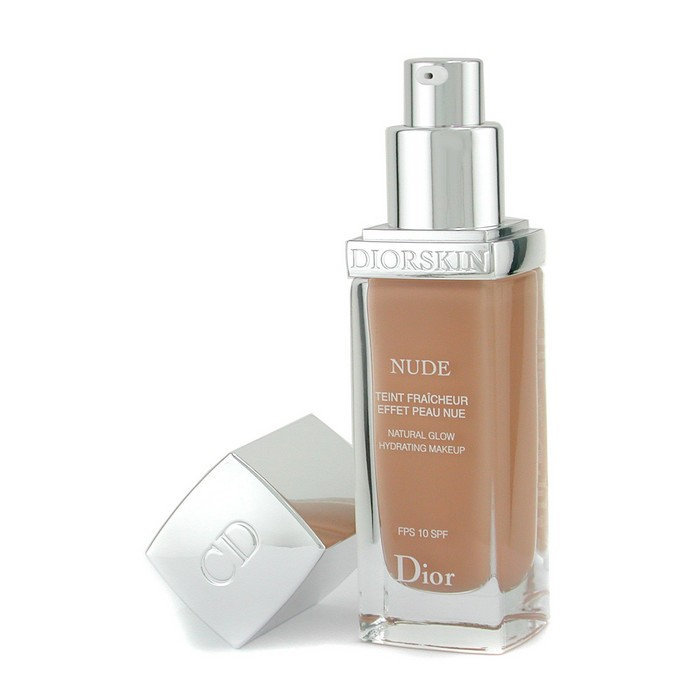 Christian dior diorskin nude natural glow hydrating makeup spf 10 - 040 honey beige 30ml cosmetics now india.