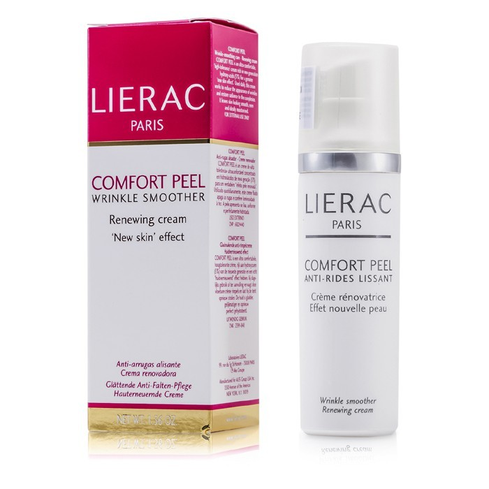 Lierac comfort peel wrinkle smoother renewing cream 40ml cosmetics now canada.