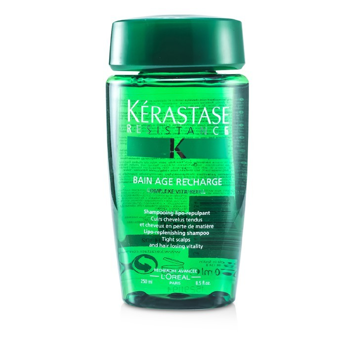 Kerastase resistance bain age recharge shampoo for tight for Kerastase bain miroir shine revealing shampoo