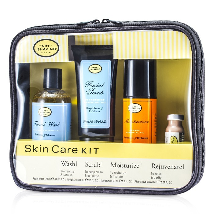 the art of shaving skincare kit for sensitive skin facial wash facial scrub moisturizer. Black Bedroom Furniture Sets. Home Design Ideas
