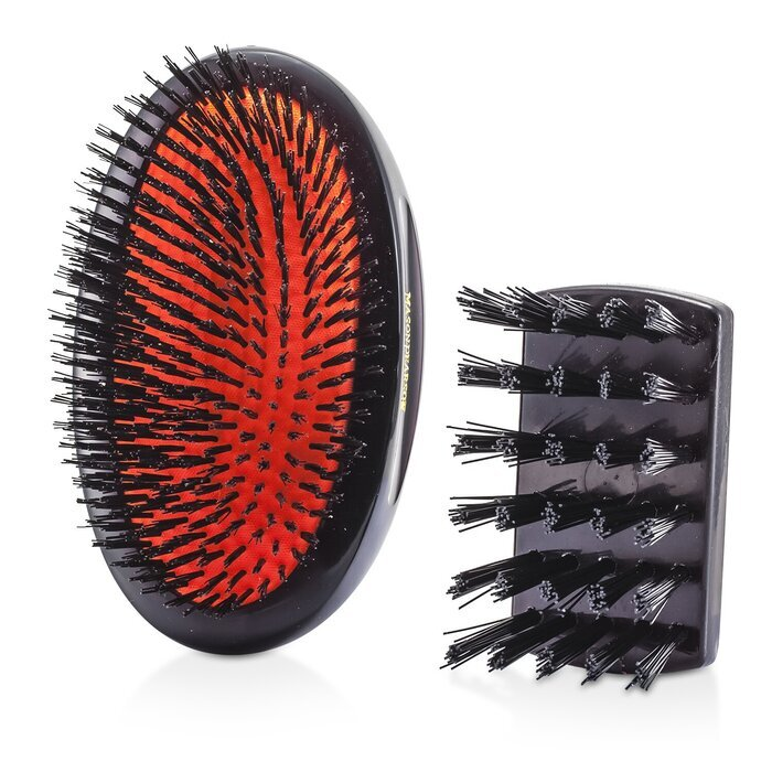 ... Sensitive Military Pure Bristle Medium Size Hair Brush (Dark Ruby) 1pc
