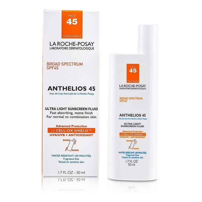 la roche posay anthelios 45 ultra light sunscreen fluid for face n c. Black Bedroom Furniture Sets. Home Design Ideas