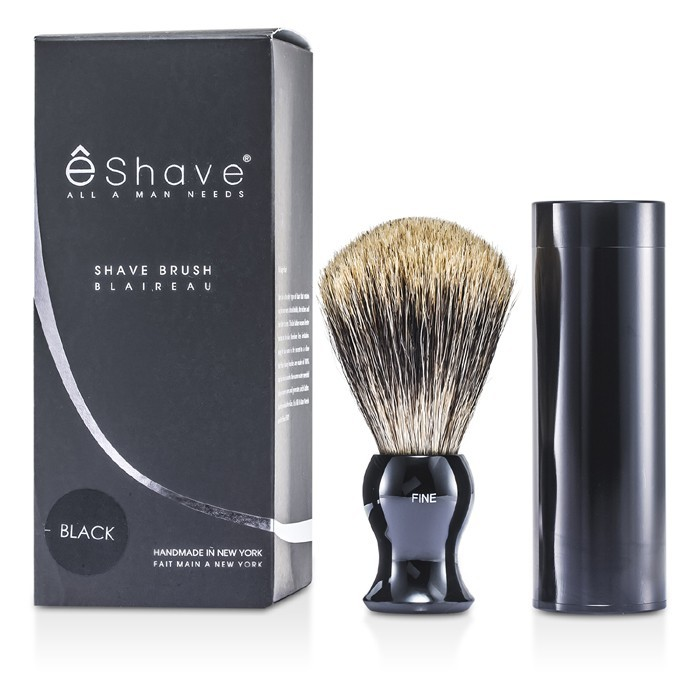 EShave Travel Brush Fine With Canister - Black 1pc : Cosmetics Now US