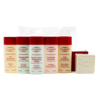 Eau Dynamisante Body Coffret: Body Exfoliator + Body Lotion + Shower Gel + Shampoo + Conditioner + Soap 6pcs+1bag - Product Image
