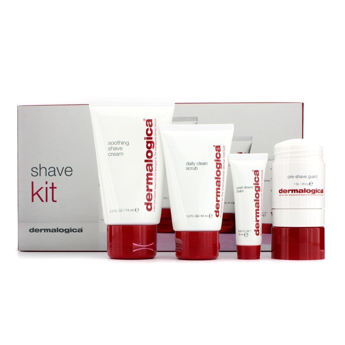 Shave Kit: Clean Scrub 44ml + Pre-Shave Guard 28.3g + Shave Cream 74ml + Post-Shave Balm 10ml 4pcs - Product Image