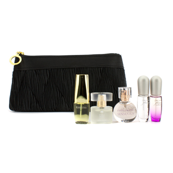 Purse Spray Collection Coffret: Pleasures+ Pleasures Intense+ Sensuous+ White Linen+ Beautiful 5pcs+1bag - Product Image
