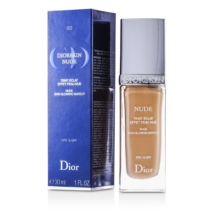 Diorskin Nude Skin Glowing Makeup SPF 15 - # 020 Light Beige 30ml/1oz - Product Image
