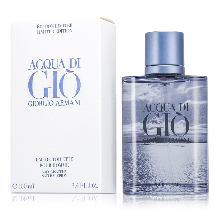 giorgio armani acqua di gio eau de toilette spray blue limited edition 100ml 3 4oz cosmetics