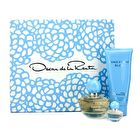 Oscar De La Renta Something Blue Coffret: Eau De Parfum Spray 50ml/1.7oz + Body Lotion 100ml/3.4oz + Eau De Parfum Miniature 4ml/0.13oz 3pcs