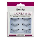 Eylure Naturalites False Lashes Multipack - 020 Natural Black (Adhesive Included) 3pairs