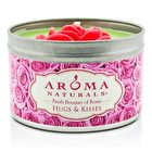 Aroma Naturals 100% All Natural Soy Candle - Hugs & Kisses (Pink Rose) 6.5oz