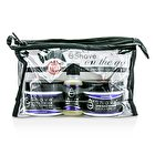 EShave On The Go Travel Kit (Lavender): Shave Cream 30g + After Shave Soother 30g + Pre Shave Oil 15g +TSA Bag 3pcs+1bag