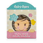 Shara Shara Triple Shine Color Shadow - #2 Yellow Brown Palette 3.5g/0.12oz