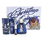 Christian Audigier Coffret: Eau De Toilette Spray 100ml/3.4oz + Hair & Body Wash 90ml/3oz + Deodorant Stick 78g/2.75oz + Eau De Toilette Spray 7.5ml/0.25oz 515090 4pcs