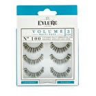 Eylure Volume False Lashes Multipack - 100 Black (Adhesive Included) 3pairs