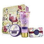 Heathcote & Ivory Secret Paradise Hand & Body Treats In Decorative Tin: Hand Cream 100ml/3.38oz + Body Butter 50ml/1.69oz + Soap 80g/2.8oz 3pcs