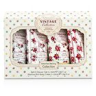 Heathcote & Ivory Vintage Assorted Bathing Collection: 2x Bath & Shower Gel 50ml/1.69oz + 2x Body Cream 50ml/1.69oz 4pcs