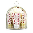 Heathcote & Ivory Vintage Mimosa & Pomegranate Miniature Birdcage with Bath & Body Essentials 4pcs