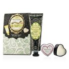 Heathcote & Ivory Beau Jardin Hand & Lip Set: Citrus Grove Hand Cream 75ml/2.5oz + Cocoa Butter Lip Balm 14g/0.49oz 2pcs