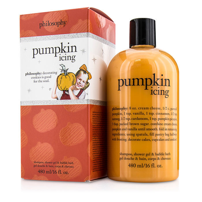 Philosophy Pumpkin Icing Shampoo Shower Gel Amp Bubble Bath
