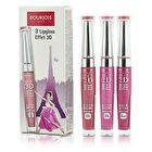 Bourjois Effet 3D Lipgloss Set: 3x Lipgloss - #04 Rose Polemic, #05 Rose Hypothetic, #46 Rose Lyric 3x5.7ml/0.19oz