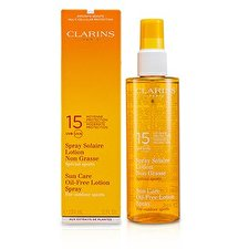 Clarins Sun Care Spray Oil-Free Lotion Progressive Tanning SPF 15 - For Outdoor Sports 150ml/5.1oz