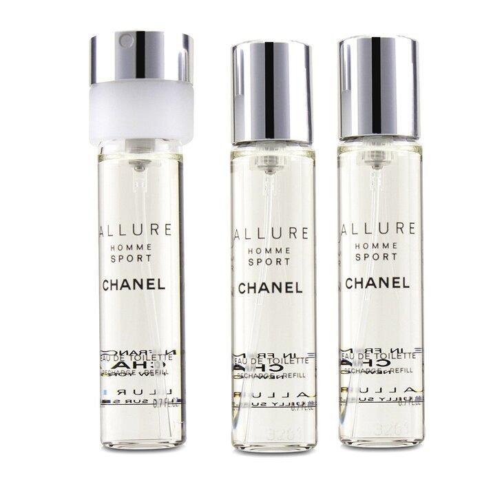 chanel homme sport eau de toilette travel spray refills 3 refills 3x20ml cosmetics