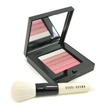 Bobbi Brown Rose Shimmer Brick Set: Rose Shimmer Brick Compact + Mini Face Blender Brush (Limited Edition) 2pcs