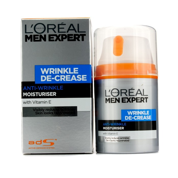 l 39 oreal men expert wrinkle de crease anti expression wrinkles moisturising cream 50ml. Black Bedroom Furniture Sets. Home Design Ideas