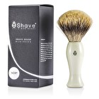 EShave Shave Brush Fine - White 1pc