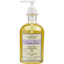 Aromafloria Stress Less Bath And Body Massage Oil Blend Of Lavender Chamomile And Sage 266ml/9oz