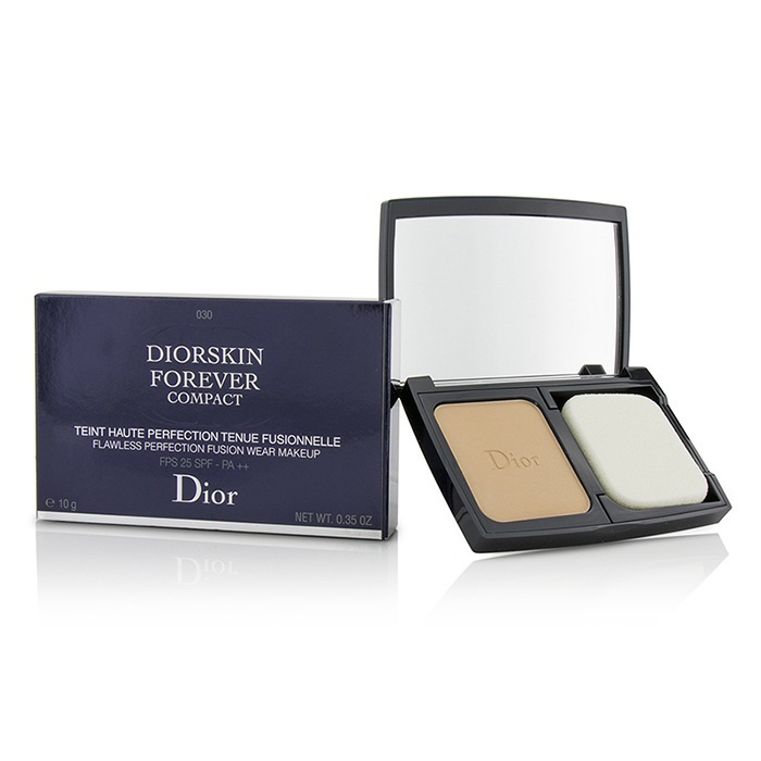Diorskin Forever Compact Flawless Perfection Fusion Wear Makeup SPF 25 - #030 Medium Beige 10g/0.35oz - Product Image