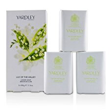 Yardley London Lily Of The Valley Luxury Soap 3x100g/3.5oz