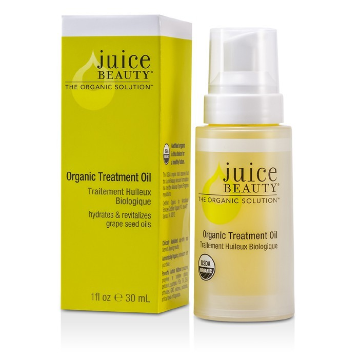 Juice Beauty's Organic Treatment Oil is designed for all skin types and especially beneficial for normal, dry or mature skin. Key Ingredients Deeply moisturizes and helps soothe dry spots with antioxidant-rich organic sunflower, olive and jojoba.
