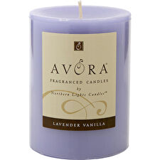 Lavender & Vanilla Essential Blend One 3x4 Inch Pillar Essential Blends Candle