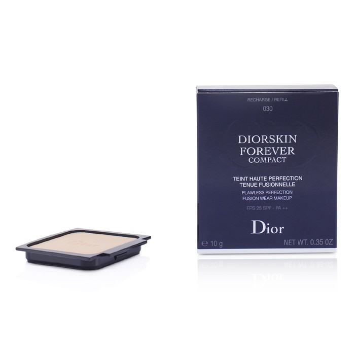 Diorskin Forever Compact Flawless Perfection Fusion Wear Makeup SPF 25 Refill - #030 Medium Beige 10g/0.35oz - Product Image