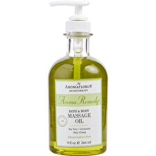 Aromafloria Aroma Remedy Bath & Body Massage Oil Blend Of Tea Tree Geranium And May Chang (preservative Free) 266ml/9oz