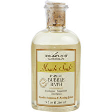 Aromafloria Muscle Soak Foaming Bubble Bath Blend Of Eucalyptus Peppermint Lemongrass 266ml/9oz