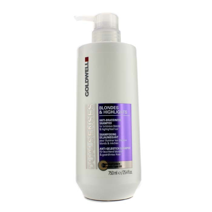 goldwell dual senses blondes highlights anti brassiness shampoo for luminous blonde. Black Bedroom Furniture Sets. Home Design Ideas