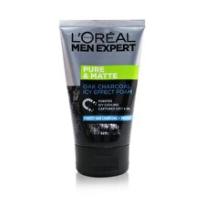 L'Oreal Men Expert Pure & Matte Icy Effect Charcoal Black Foam 100ml/3.4oz