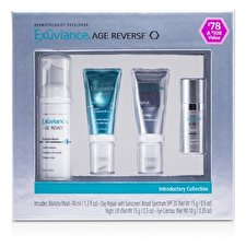 Exuviance Age Reverse Introductory Collection: BioActiv Wash + Day Repair + Night Lift + Eye Contour 4pcs