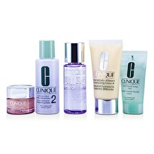 Clinique Exclusive Set: DDLM plus 50ml + All About Eyes 15ml + Flüssigseife 30ml + Klärende Lotion # 2 60ml + Make-up Entferner 50ml 5pcs