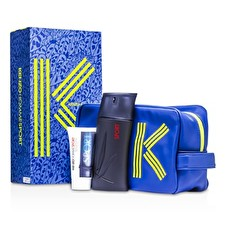 Kenzo Homme Sport Coffret: Eau De Toilette Spray 100ml/3.4oz + After Shave Balm 50ml/1.7oz + Fashion Pouch 2pcs+1pouch