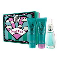 Anna Sui Secret Wish Coffret: Eau de Toilette Spray 50ml/1.7oz + Body Lotion 90 ml / 3 Unzen + Duschgel 90 ml / 3 Unzen 3pcs