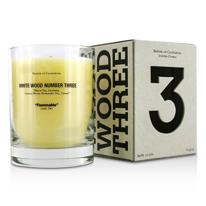 Scented Candles - White Wood Three 350g/12.5oz