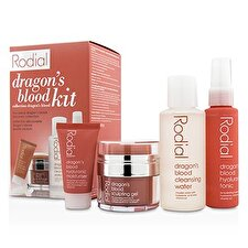 Rodial Dragon's Blood Kit: Cleansing Water 100ml/3.4oz + Tonic 50ml/1.7oz + Sculping Gel 9ml/0.3oz + Moisturiser 10ml/0.3oz 4pcs