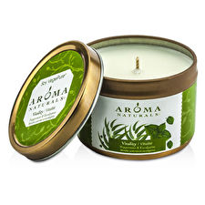 Aroma Naturals Allergy Friendly Tin Soy Candle - Vitality (Peppermint & Eucalyptus) 79.38g/2.8oz