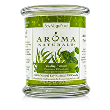 Aroma Naturals 100% Natural Soy Essential Oil Candle - Vitality (Peppermint & Eucalyptus) 260g/8.8oz