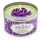 Aroma Naturals 100% All Natural Soy Candle - Hugs & Kisses (Purple Rose) 6.5oz