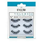Eylure Volume False Lashes Multipack - 101 Black (Adhesive Included) 3pairs